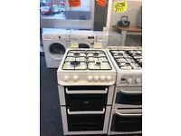 ZANUSSI 50CM ALL GAS COOKER IN WHITE WITH LOD