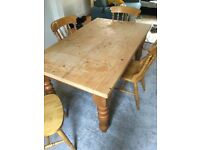 Farmhouse dining table and 4 chairs