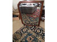 Large solid mahogany Edwardian bevelled mirror
