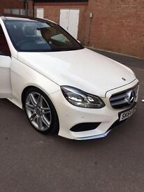 E350 pearl white Mercedes Benz
