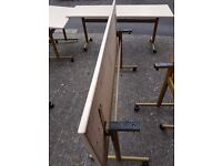 Fold down tables single or as a set