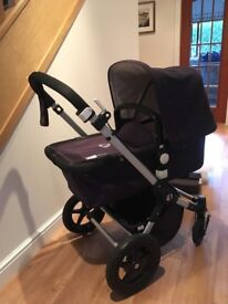 Navy Bugaboo Cameleon 3 Pram and Buggy - immaculate condition