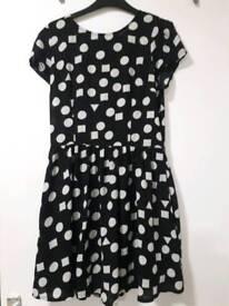 Black and white ladies dress size 12