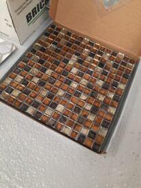 Glass mosiac tile sheets 300mm x 300mm x5