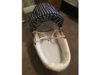 Moses basket (like new) only used a couple of times