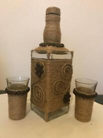 Hand made decorated bottles