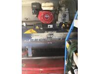 Fiac 150ltr, twin piston compressor (Honda Petrol)