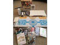 Nintendo Wii Bundle - Wii Console + Wii Fit Board + 8 Games + Dance Mat + Skylanders
