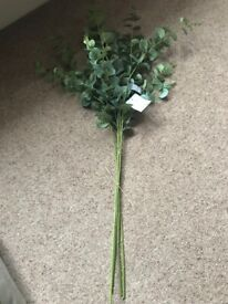 Eucalyptus (Artificial) 4 Stems- NEW - Ideal for display or craft work