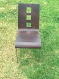 Dark Brown Dining Room Chair (pair)