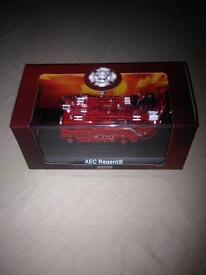 Aec regent 111 model fire engine in display box