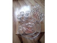 Eggcups, toast rack & plate/ pan stand