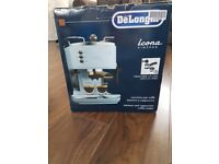 Delonghi icona vintage coffee machine azure blue BRAND NEW