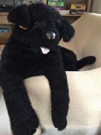 Large soft toy dog