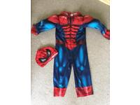 Spider-Man fancy dress costume with mask