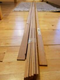 9x Wooden battens 2.4m