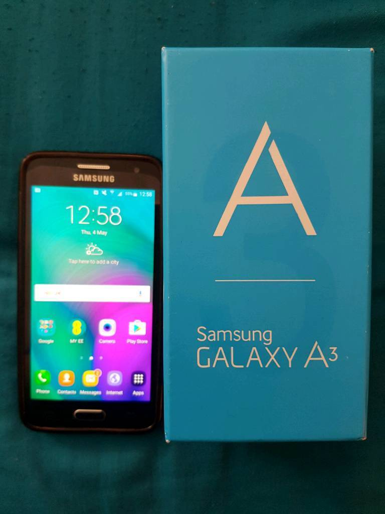 Samsung Galaxy A3 2015 Jet Black Model Number Sm