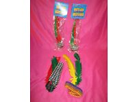 New in pack Native American Red Indian Brave Head Band, Feathers in elasticated headband Fancy Dress