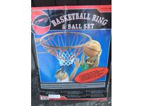 Fabulous 18 inches basketball ring and ball set, never out of box