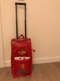 Disney Store Lightning McQueen Child's Suitcase - Good Condition