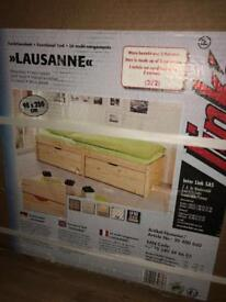 New boxed single bed with storage