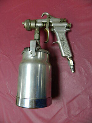Devilbiss Type Mbc Spray Gun With 1 Quart Suction Feed Cup Original Devilbiss