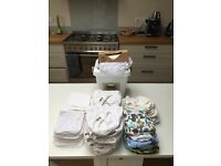 Reusable nappies in excellent condition, environmentally friendly reusable nappy second hand