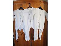 Mothercare white cotton 9-12m sleepsuit's babygrows
