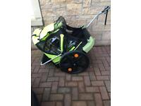 HARDLY USED Double Buggy Child Bike Trailer