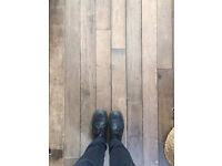 Reclaimed maple strip flooring