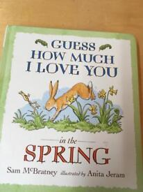 Guess how much I love you in the spring book