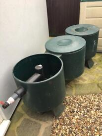 3 chamber filter for koi/ fish pond