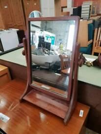 Soild teak rotation mirror