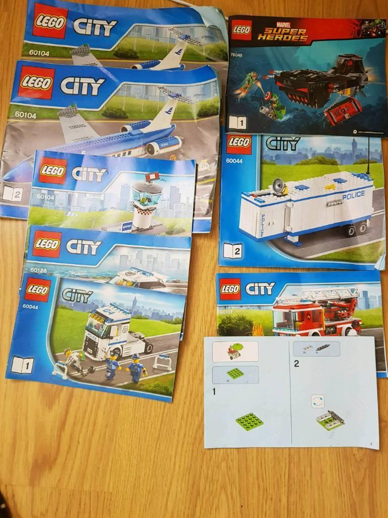 Lego Instructions Job Lot In Aberdeen Gumtree