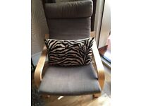 Ikea chair - padded chair cushion 1 year old ... fab condition