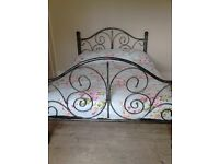 Sturdy Double bed frame.( wrought iron style) £150.00.O.N.O
