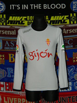 5/5 Sporting Gijon adults S 2015 away MINT football shirt jersey trikot camiseta image