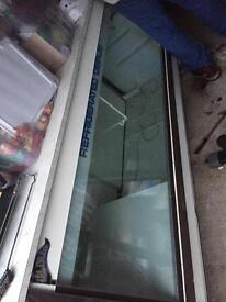 Large counter serving display fridge