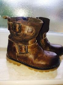 NEXT boys leather boots infant size 6uk
