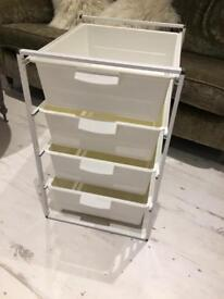 Ikea Drawer Unit With plastic drawers