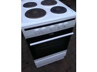 White Electric metal ring cooker 50cm.....Cheap free delivery