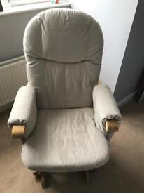Tutti bambini glider chair and foot stool
