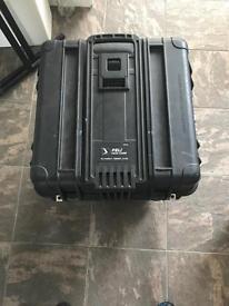 Peli Case 0340 with handles and castors. Pro case.
