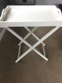 Tray table painted in antique white chalk paint