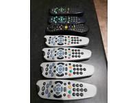 6 x Sky remote. 1 x virgin remote