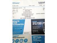 Rita ora tickets Bristol 02 29th