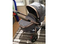 Mothercare Orb Pram & pushchair with maxicosi pebble carseat
