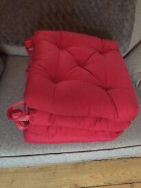 Red Chair Cushions x4