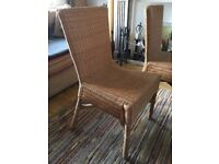 Wicker dining chairs (4)