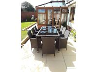 Garden ratten 8 seater patio set